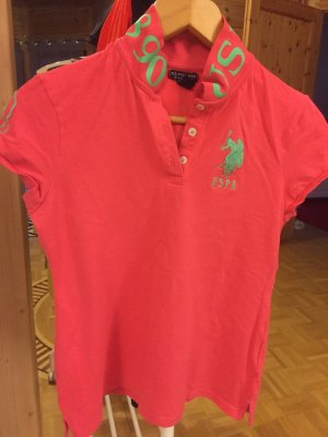 U.s. polo assn. Polo shirt lichtrood-groen