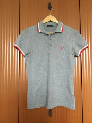 Fred Perry Top Polo gris-rouge carmin
