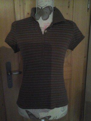 Poloshirt von H&M Divided braun gestreift Gr. 36