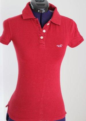 Hollister Polo shirt karmijn Katoen