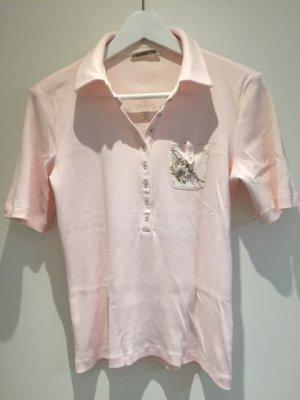 Poloshirt von Margittes mit Druck und kleinen Nieten