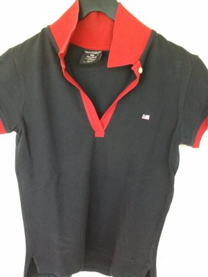 Ralph Lauren Top Polo bleu-rouge
