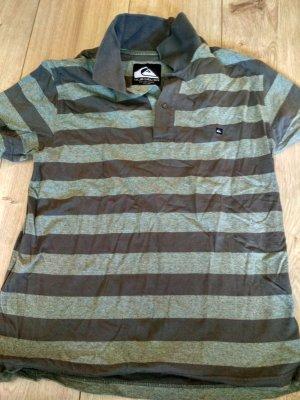 Quiksilver Camiseta tipo polo gris verdoso-caqui