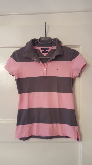 Tommy Hilfiger Camiseta tipo polo gris-rosa
