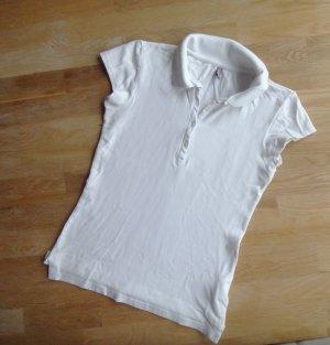 Poloshirt Weiß #Amisu Größe M 36 38