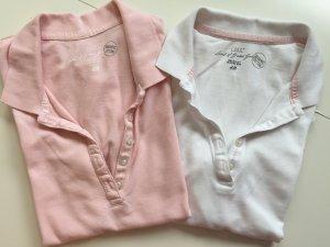 Poloshirts rosa weiß