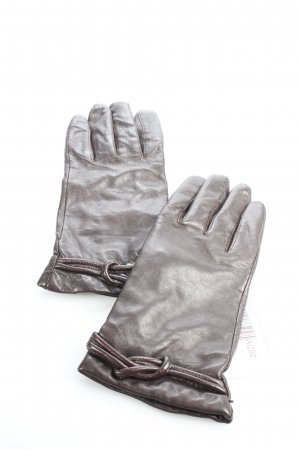 Pompei Lederhandschuhe dunkelbraun klassischer Stil