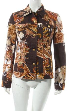 Pompöös Blusenjacke florales Muster extravaganter Stil