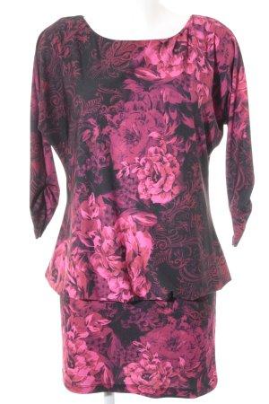 Pompöös by Harald Glöckler vestido de globo negro-rosa estampado floral