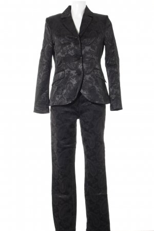 Pompöös by Harald Glöckler Tailleur pantalone nero motivo lavorato elegante