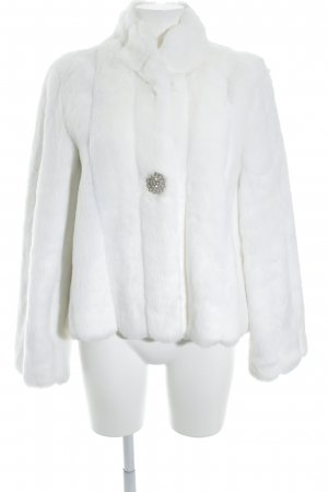 Pompöös by Harald Glöckler Fake Fur Jacket white animal print