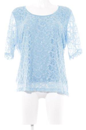 Pompöös by Harald Glöckler T-Shirt hellblau Casual-Look