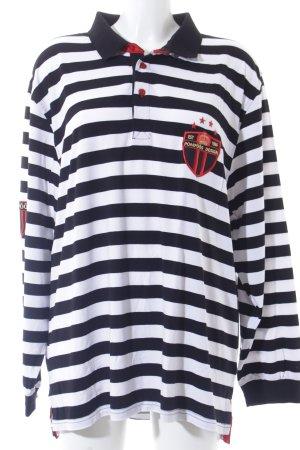 Pompöös Polo-Shirt Streifenmuster Casual-Look