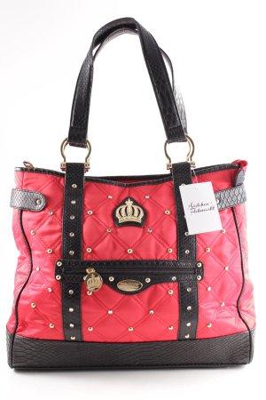 Pompöös Shopper rot-schwarz extravaganter Stil