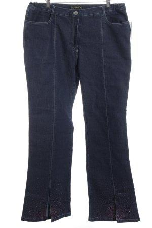 Pompöös Straight-Leg Jeans blau Casual-Look