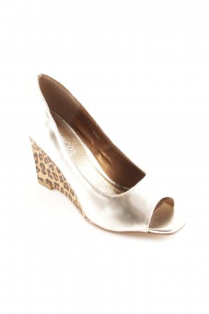 Pompöös Wedge Sandals leopard pattern extravagant style