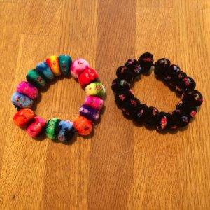 Pompom-Bänder, für Haare oder als Armband