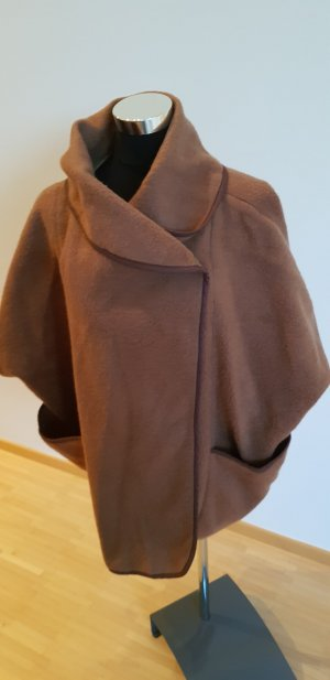 H&M Poncho bruin Polyester