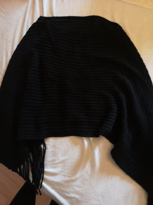 C&A Gebreide poncho zwart