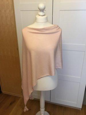Comma Sciarpa lavorata a maglia rosa pallido