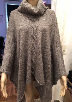 Amisu Poncho in maglia grigio