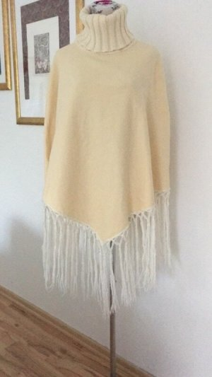 Poncho natural white-cream