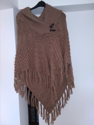 Villa Knitted Poncho light brown polyvinyl chloride