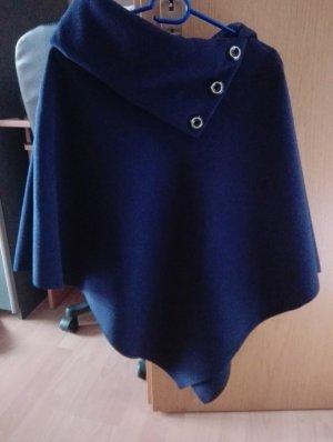 Poncho donkerblauw