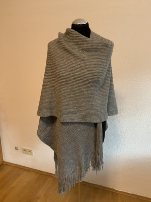 Poncho color plata