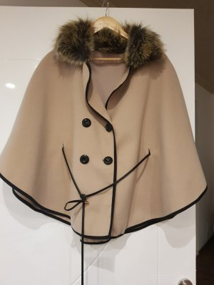 Poncho black-light brown