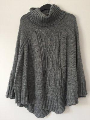 H&M Poncho in maglia grigio-grigio scuro