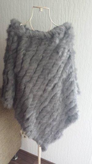 Poncho aus Kaninchenfell Fell Fur Pelz Cape Umhang