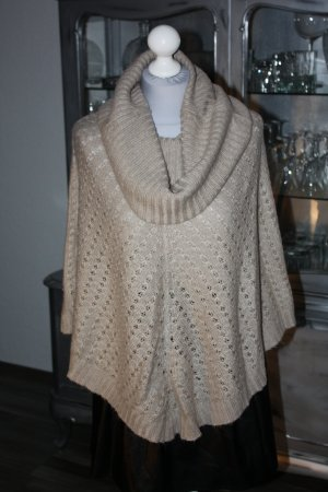 Poncho beige 36 Ernstings Family Pullover