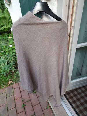 Poncho grey brown-light brown