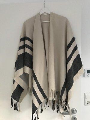 Poncho beige/ schwarz