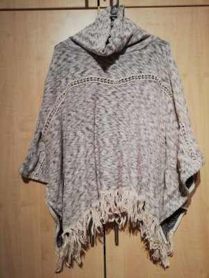 Bershka Poncho light grey-grey