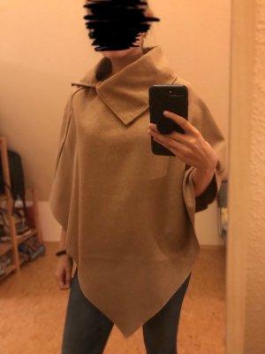 SheIn Rain Poncho light brown-camel