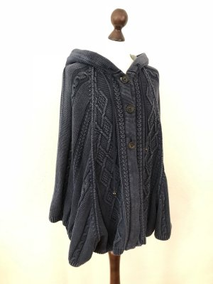 Poncho Cape Jacke Strickjacke