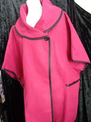Style London Cape magenta-rose fibre synthétique
