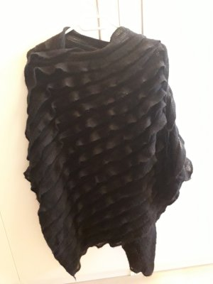 Pieces Poncho zwart