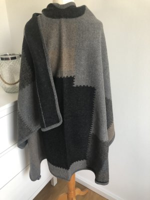 Knitted Poncho multicolored wool