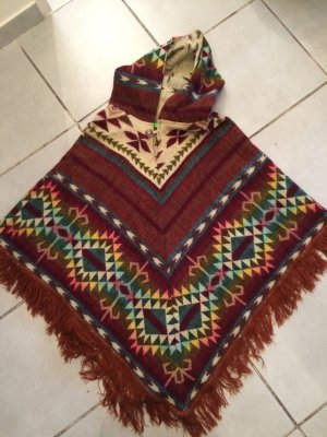 Poncho brons-wit