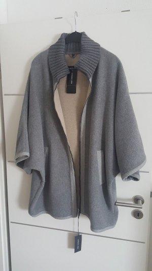 Poncho silver-colored-grey