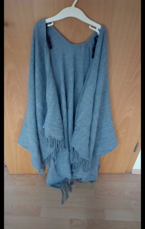 Blind Date Poncho silver-colored