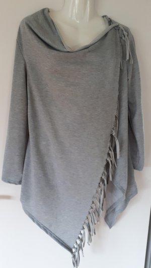 Poncho grigio chiaro