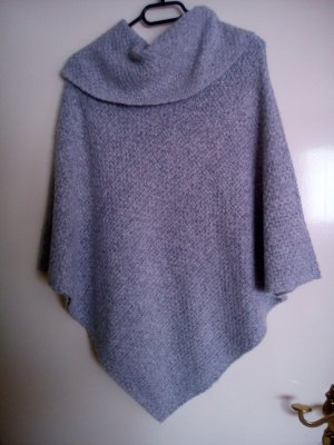 Poncho silver-colored-light grey