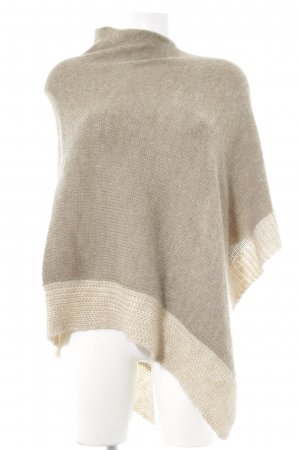 Poncho grijs-bruin-licht beige Boho uitstraling