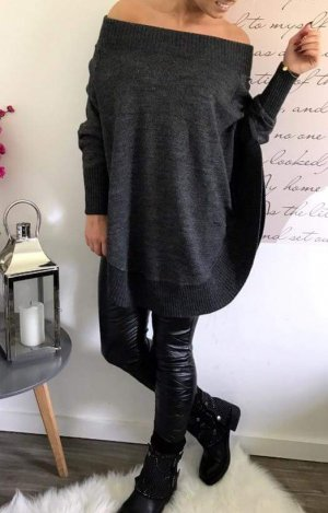 Poncho in Anthrazit One Size