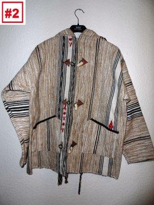 Poncho Jacke für Herren und Damen hippie reggae oldschool
