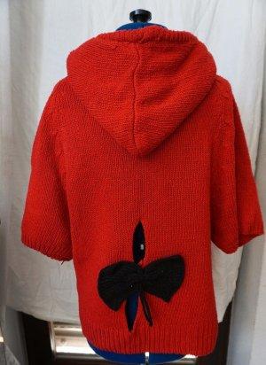 Poncho zwart-rood